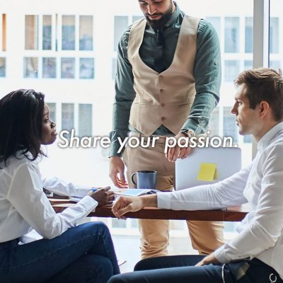 Share your passion.
